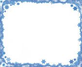 Christmas snowflake frame — Stock Photo