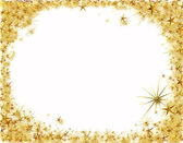 Christmas frame with golden stars — Stock Photo