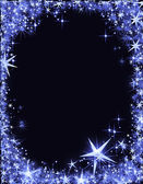 New Year's Eve frame with stars — Stock Photo