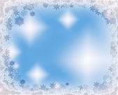 Icy crystal snowflakes Christmas frame — Stock Photo