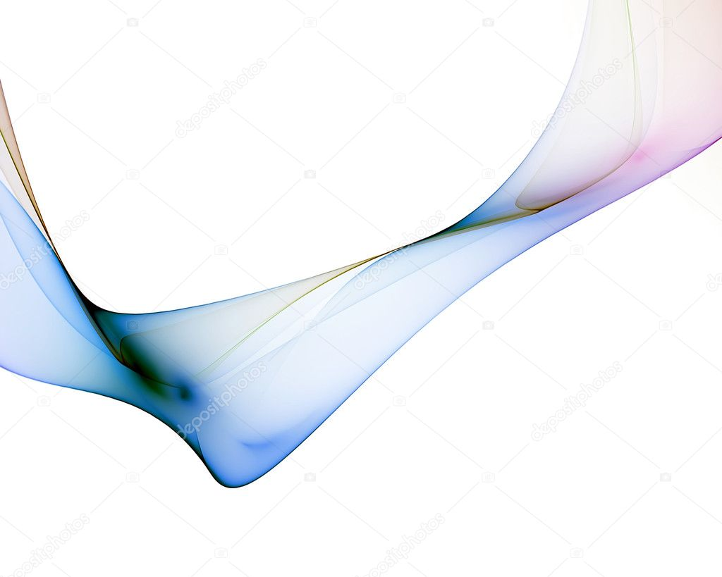 Abstract veil with colorful reflections against white background — Stock Photo #1803291