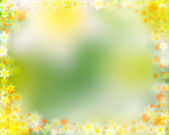 Colorful spring floral border — Stock Photo