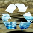 Stock Photo: Recycling water, environmental concept,