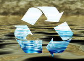 Recycling water, environmental concept, — Stock Photo