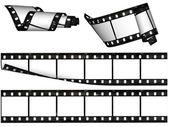 Design elements, blank film stripes — Stock Photo