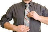 Gros plan de cravate — Photo