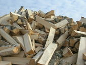 Hudle of firewood — Stock Photo
