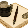 Stock Photo: Pen and quill