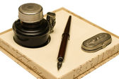 Pen and quill — Stock Photo