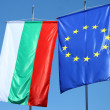 Flags of Bulgaria and Europe - Stock Photo