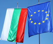 Flags of Bulgaria and Europe — Stock Photo