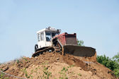 Bulldozer on construction site — Stock Photo