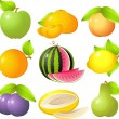 Fruit set — Stockvectorbeeld
