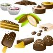 Stock Vector: Chocolate set