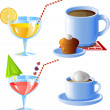 Stock Vector: Drinks set