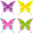Set of butterfly — Stock Vector