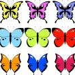 Set of butterfly — Stock Vector #1838458