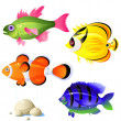 Tropical fish — Image vectorielle