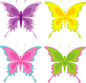 Set of butterfly — Vettoriale Stock