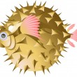 Fish-urchin — Stock Vector