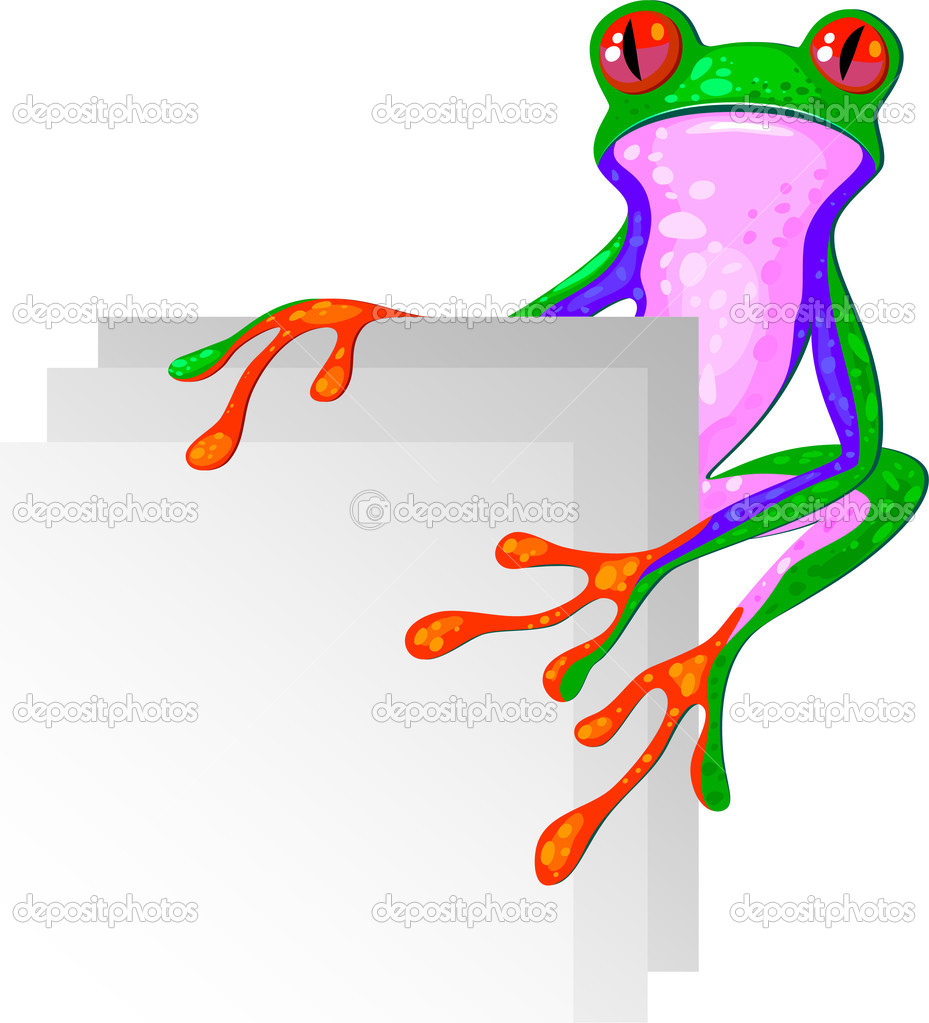 Tree Frog for the corner. Isolated. EPS 8, AI, JPEG — Stock Vector #1842353