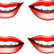 lippen set — Stockvector  #1850843