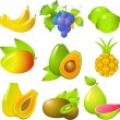 Set of exotic fruits — Stock Vector #1851547