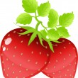 Strawberries on the white — Stock Vector #1851841