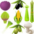 Royalty-Free Stock Vector Image: Vegetables set