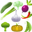 Vegetables set — Stock Vector #1852103