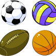 Royalty-Free Stock Vector Image: Four balls