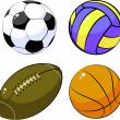Four balls — Stock Vector