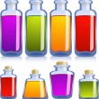 Stock Vector: Collection of various bottles