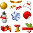 New Year and Christmas design elements - Stockvectorbeeld