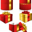 Royalty-Free Stock : Set of five vector gift boxes