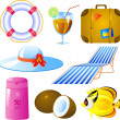 Vacation icon set — Stock Vector
