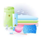 Dodávky pro osobní hygienu — Stock vektor