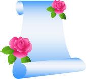 Schuiven met rozen — Stockvector