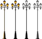 Street Lamps — Stock Vector