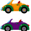 Two vector cars over white — Imagen vectorial