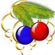 The branch of a Christmas tree with pape — Imagen vectorial