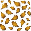 Oak autumn leaves — Stock Vector