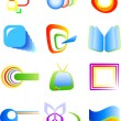 Abstract vector symbols - Stock Vector