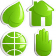 Постер, плакат: Ecology icon set