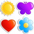 Royalty-Free Stock Imagen vectorial: Four icons