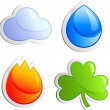 Stock Vector: Four elements
