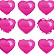 Hearts set — Stock Vector #1928292