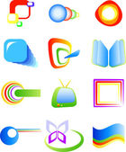 Abstract vector symbols — Stock Vector