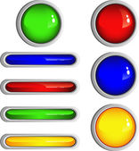 Simple Shiny Buttons — Stock Vector