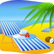 Stock Vector: Beach